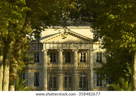 Bordeaux Chateau Margaux - stock photo