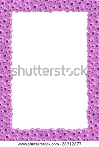 Border Flower Background - stock photo