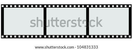 border 3 piece of film strip. - stock photo