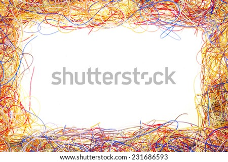 border plastic from cables - stock photo