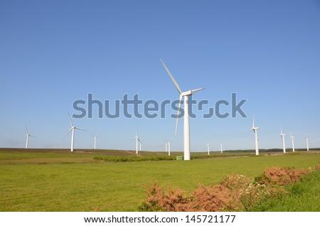Borders Wind Farm - stock photo