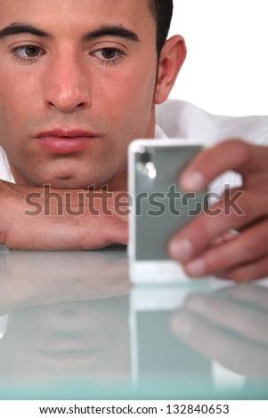 Bored businessman - stock photo