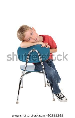 bored child - stock photo