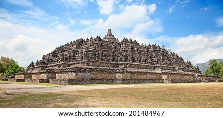 Borobudur temple near Yogyakarta on Java island, Indonesia - stock photo