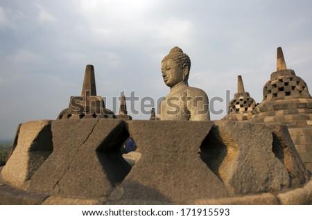 Borobudur Temple Yogyakarta, Java, Indonesia. - stock photo