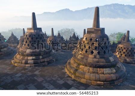 Borobudur Temple. Yogyakarta, Java, Indonesia. - stock photo