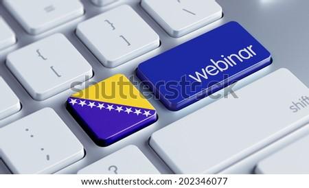 Bosnia and Herzegovina  High Resolution Webinar Concept - stock photo
