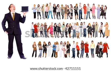 Boss and the staff - stock photo