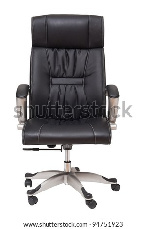boss chair isolated on white - stock photo