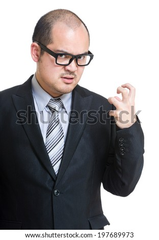 Boss feel angry - stock photo