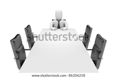 Boss. Image contain clipping path - stock photo