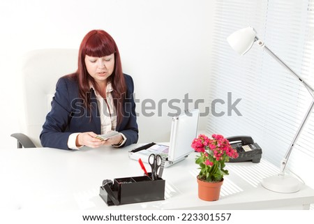 boss with a lot of money - stock photo
