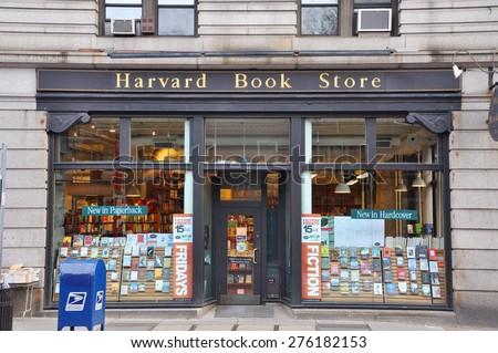BOSTON - AUG 13: The facade of Harvard Book Store near Harvard University on August 13, 2011 in Cambridge, Boston, Massachusetts, USA - stock photo