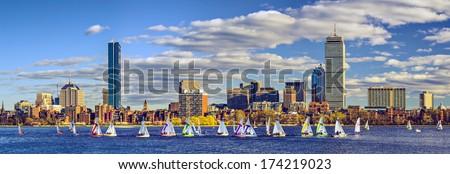 Boston, Massachusetts skyline panorama - stock photo