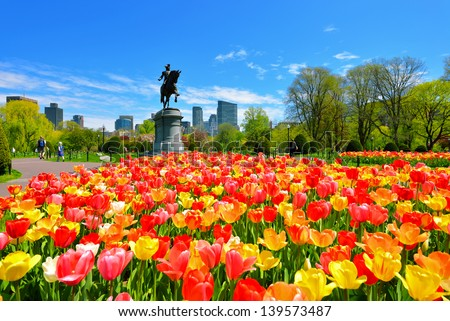 Boston Public Garden - stock photo