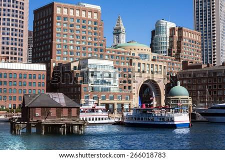 Boston Rowes Wharf in Massachusetts USA - stock photo