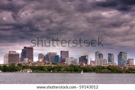 Boston Skyline. - stock photo