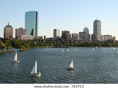 Boston skyline - stock photo