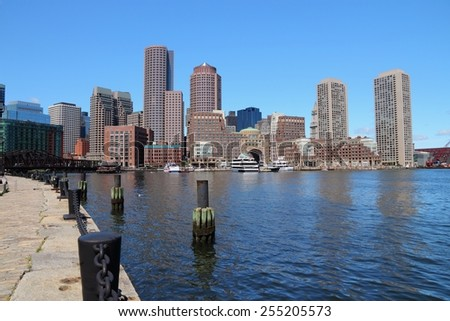 Boston skyline - city in Massachusetts, United States of America. - stock photo