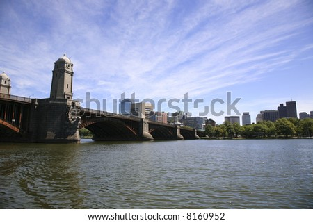 Boston skyline from the Charles River - stock photo