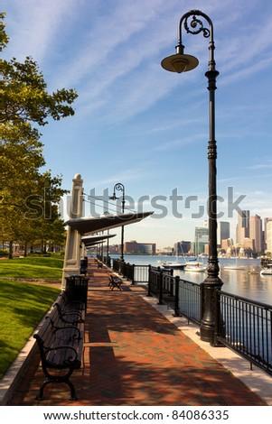 Boston skyline in Massachusetts, USA. - stock photo