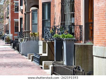 Boston South End Architecture - stock photo