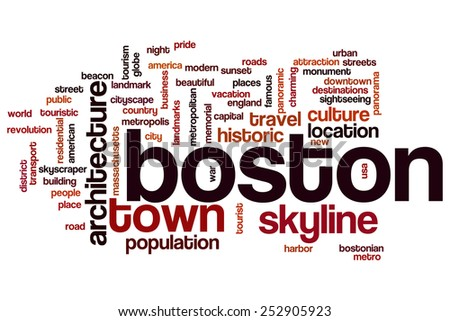 Boston word cloud concept - stock photo
