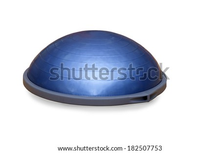 Bosu ball (modern gym ball) - stock photo