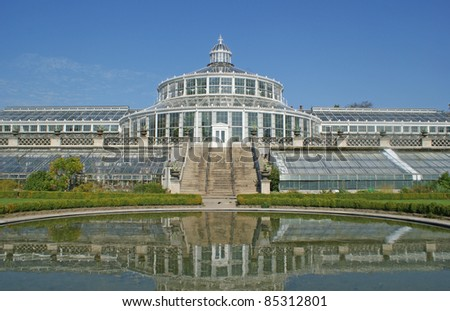 Botanical Garden and Museum Natural History of Denmark which is in the center of Copenhagen. - stock photo