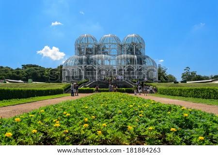 Botanical garden, Curitiba, Brazil - stock photo