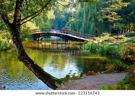 Botanical garden in Wroclaw, Poland - stock photo