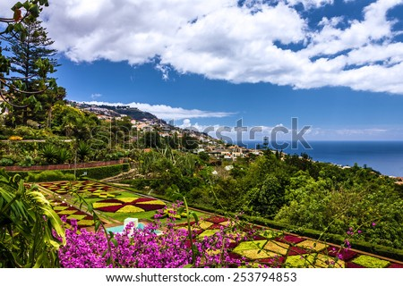 Botanical Garden Monte, Funchal, Madeira, Portugal - stock photo