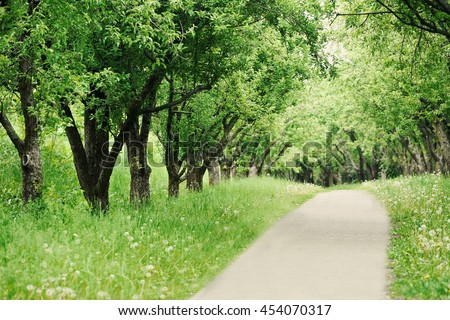 Botany park in spring - stock photo