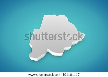 Botswana Map - stock photo