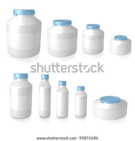 Bottle isolated - stock photo