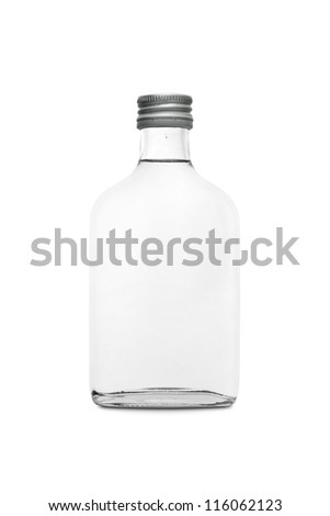 Bottle 0.2L isolated on white background - stock photo