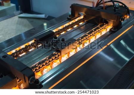 Bottle making machine - stock photo