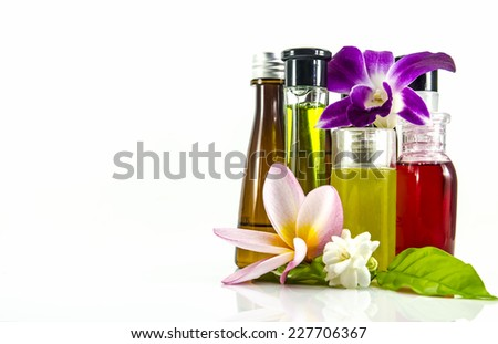 Bottle of aromatherapy - stock photo