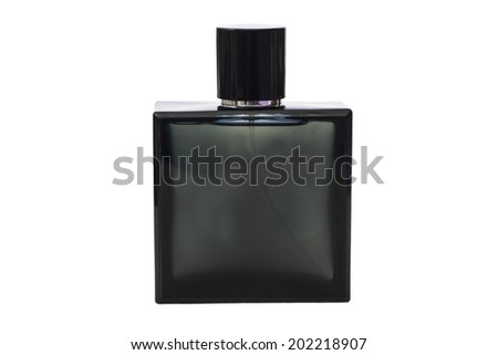Bottle of Cologne water on white background  - stock photo