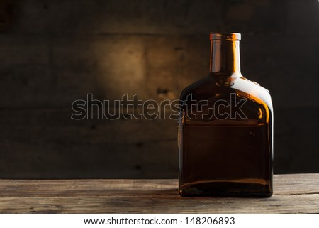 Bottle of liquor - stock photo