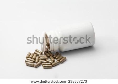 Bottle of medicine - stock photo