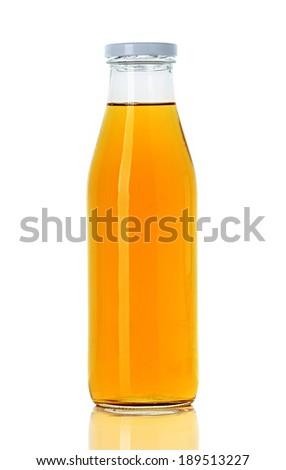 bottle of orange juice - stock photo