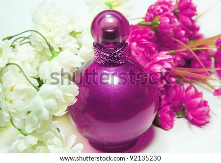 Bottle of perfume - stock photo