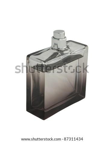 bottle of perfume isolated on white background - stock photo