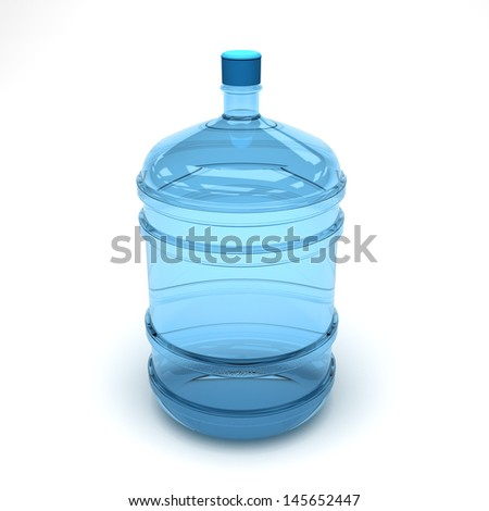 Bottle of Purify water - stock photo