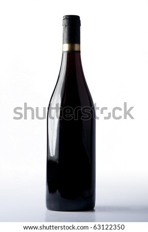 Bottle of red wine - stock photo
