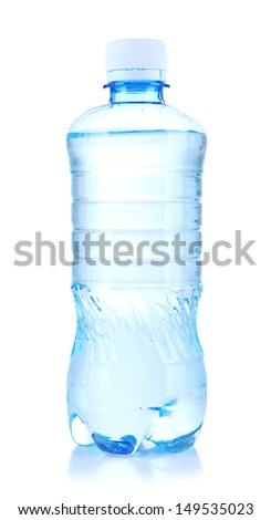 Bottle of water, isolated on white - stock photo
