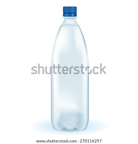 Bottle of water isolated on white. Raster version - stock photo