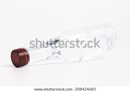 Bottle of water  on white background - stock photo