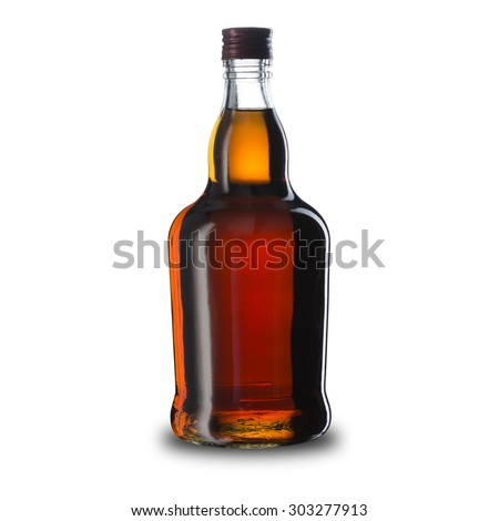 Bottle of Whiskey - stock photo